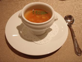 筍と蟹のスープ